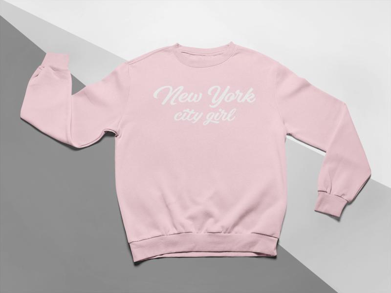 KIDSBEE Moderná detská dievčenská mikina New York City Girl - ružová