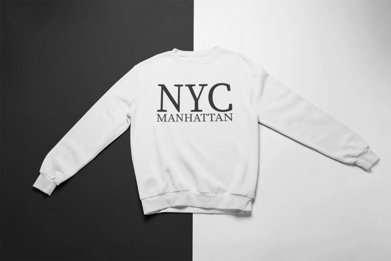 KIDSBEE Štýlová chlapčenská tepláková mikina Nyc Manhattan - biela