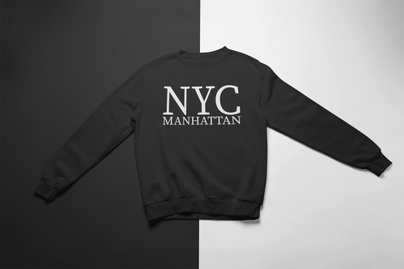 KIDSBEE Štýlová chlapčenská tepláková mikina Nyc Manhattan - čierna, veľ. 134-134