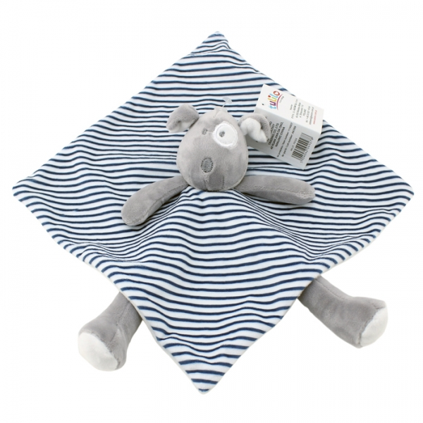 Přítulníček, maznáčik Tulilo Psík, 25x25 cm - prúžky