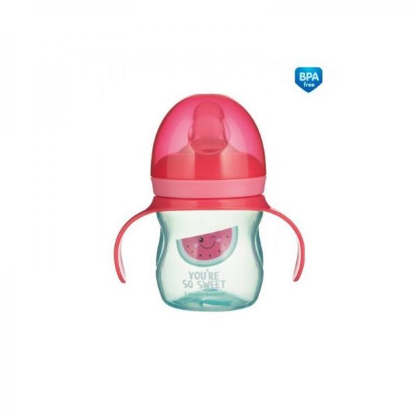 Tréningový hrnček Canpol Babies s úchytmi So Cool - ružový, 150 ml