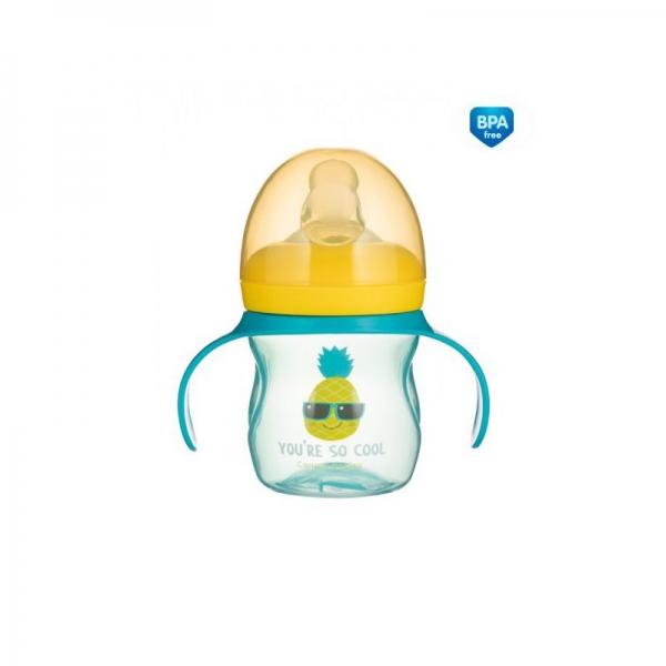 Tréningový hrnček Canpol Babies s úchytmi So Cool - tyrkysový, 150 ml