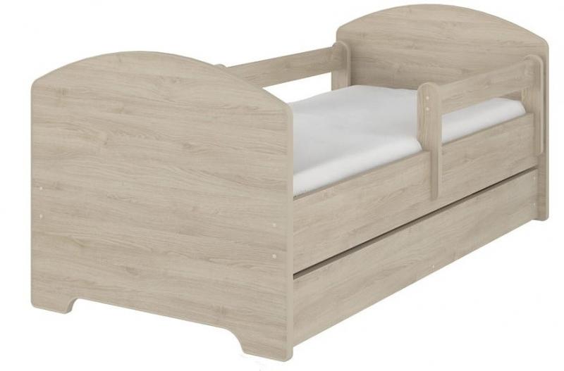NELLYS Detská posteľ SABI vo farbe svetlý dub s zásuvkou + matrac zadarmo. 160x80