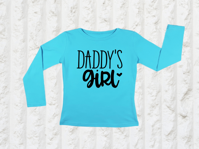 KIDSBEE Dievčenské bavlnené tričko Daddy's Girl - tyrkysové
