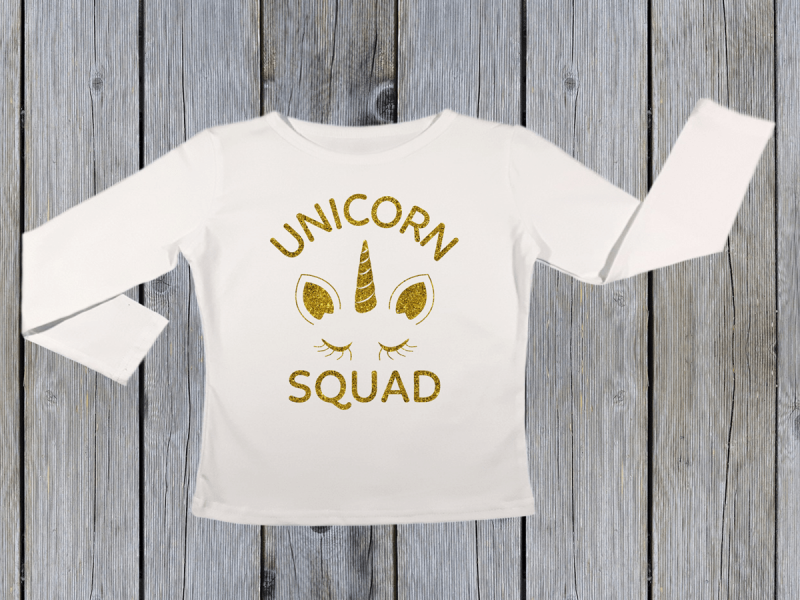 KIDSBEE Dievčenské bavlnené tričko Unicorn Squad - biele