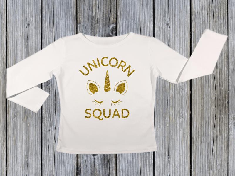 KIDSBEE Dievčenské bavlnené tričko Unicorn Squad - biele, veľ. 116