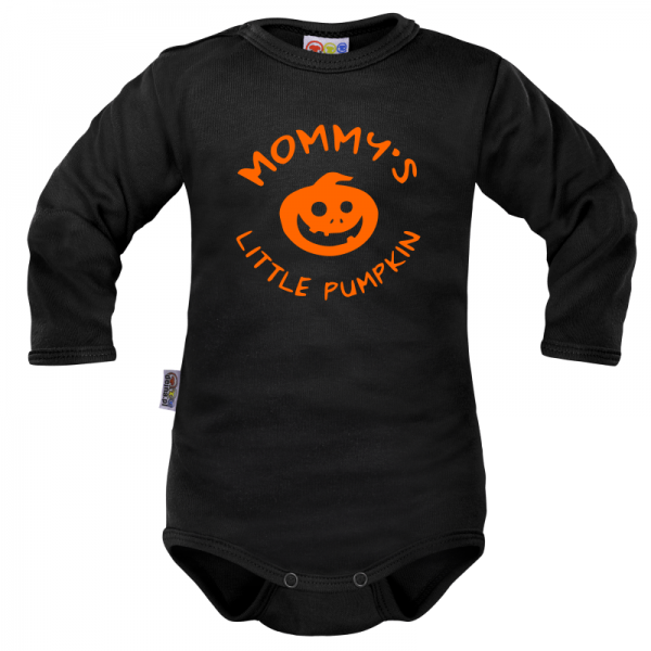 Body dlhý rukáv Dejna Mommy´s Little Pumpkin - čierne, veľ. 80