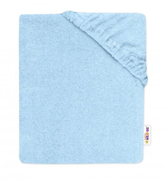 Baby Nellys Detská froté plachta do postieľky - sv. modré  140x70cm