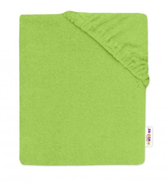 Baby Nellys Detská froté plachta do postieľky -zelené, 140x70cm