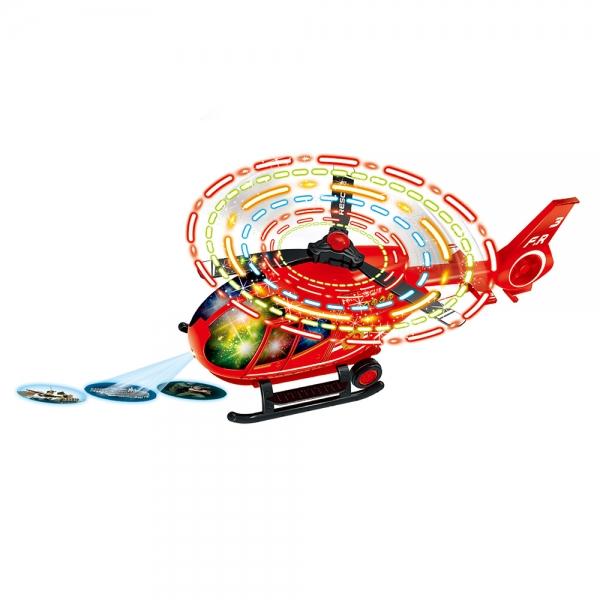 Helikoptéra záchranári s LED svety narážacie