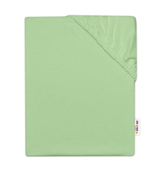 Baby Nellys Detská jersey plachta do postieľky -zelená, 140x70cm