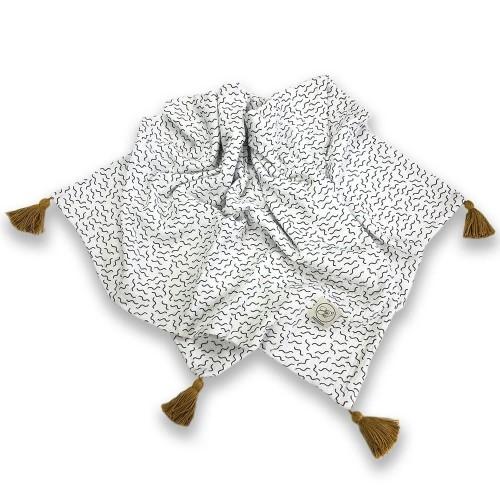 Cosy Cott Detská mušelínová zavinovacia deka 65x100 cm Vlny - biela