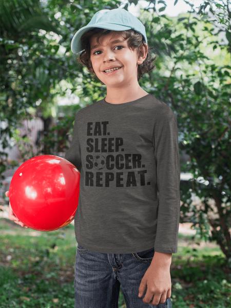 KIDSBEE Chlapčenské  bavlnené tričko Soccer - grafitové, veľ. 140