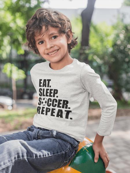 KIDSBEE Chlapčenské  bavlnené tričko Soccer - sv. sivá, veľ. 104