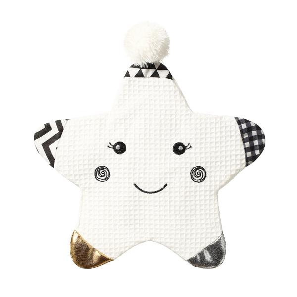 BabyOno Maznáčik/šustík Smiling Star - biely