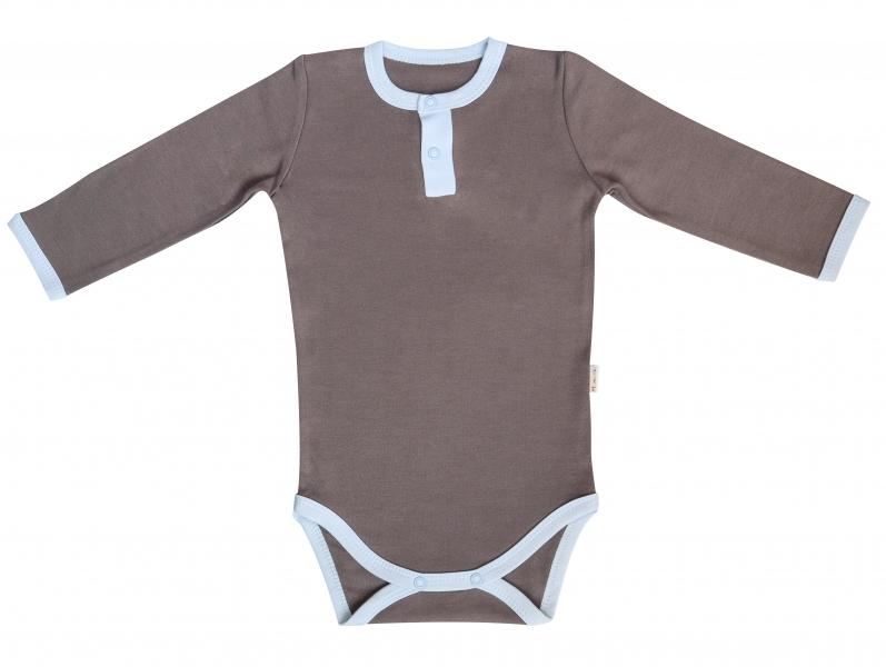 Mamatti Dojčenské body/polo Little Man - dlhý rukáv