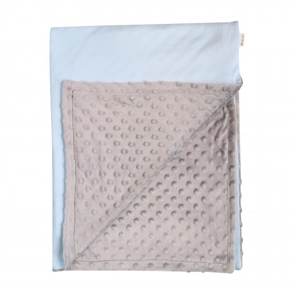 Mamatti Detská deka Little Man 75 x 90 cm - Minky/bavlna