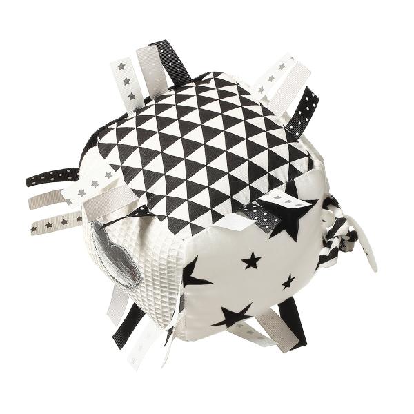 BabyOno Plyšová edukačná hračka Cube - biela/čierna