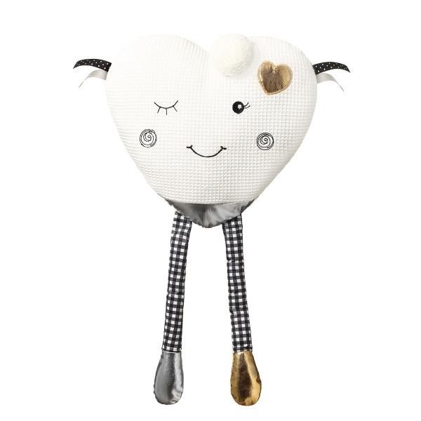 BabyOno Plyšová hračka Blinky Heart - biela