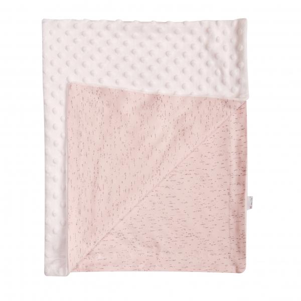 Mamatti Detská deka Cat 75 x 90 cm - Minky/bavlna