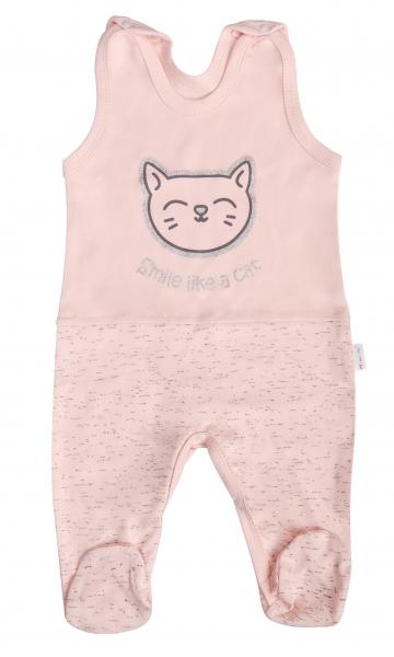 Mamatti Dojčenské bavlnené dupačky Cat, veľ. 74