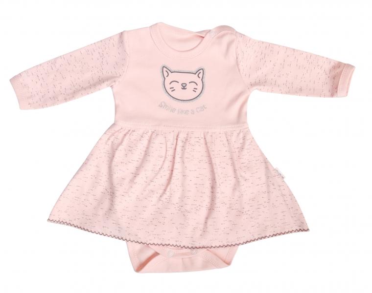 Mamatti Bavlnené sukničkobody Cat - dlhý rukáv, veľ. 86