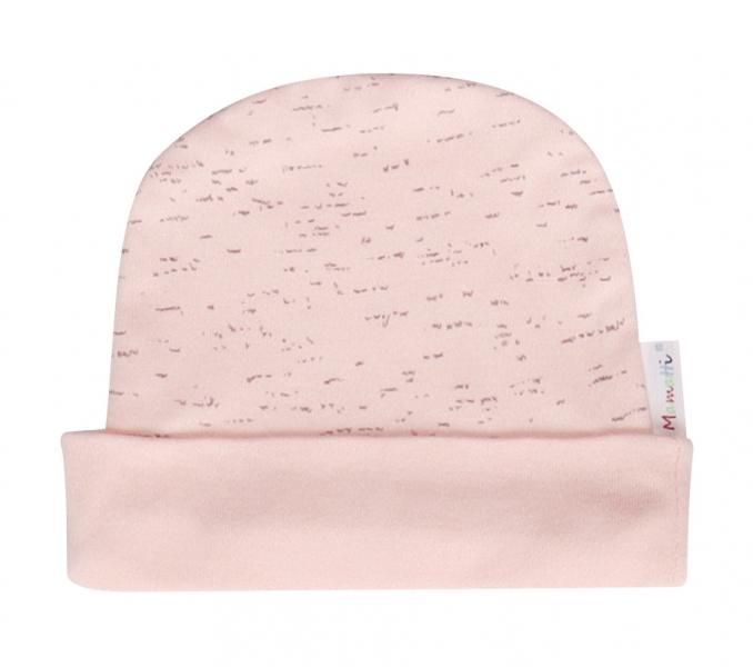 Mamatti Bavlnená čiapočka Cat - ružová-56 (1-2m)