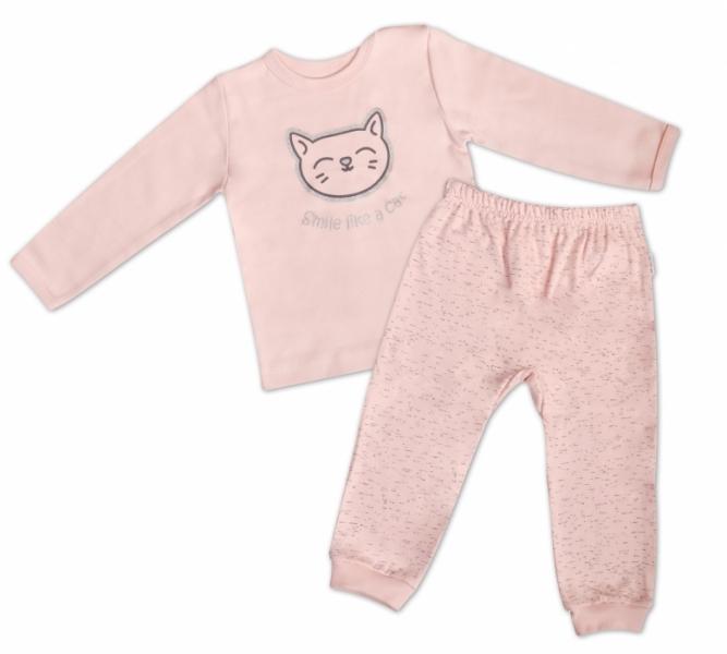 Mamatti Bavlnené pyžamko Cat - ružové, veľ. 86