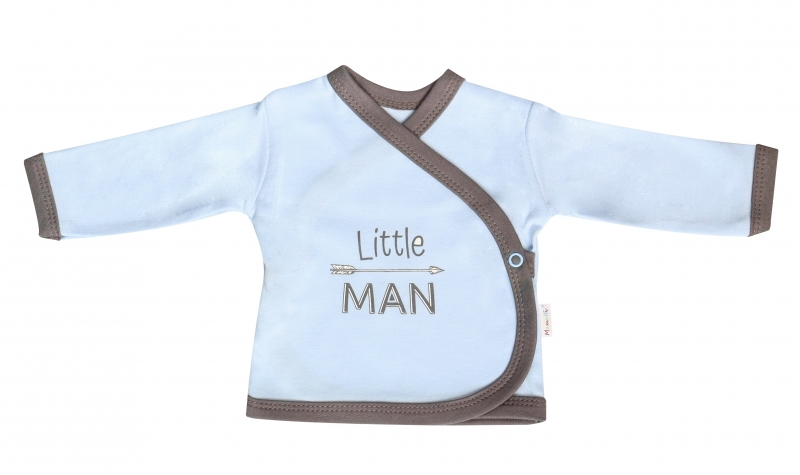 Mamatti Košieľka Little Man - zapínanie bokom, veľ. 50-50 (0-1m)