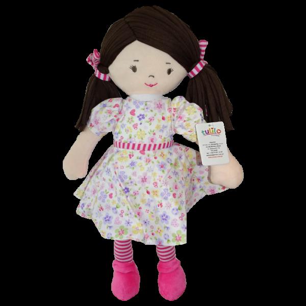 Handrová bábika Malvínka, Tulilo, 40 cm - ružová