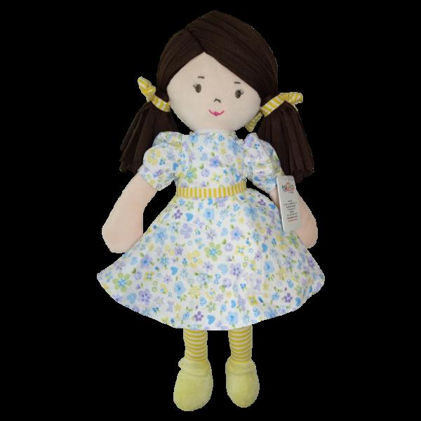 Handrová bábika Malvínka, Tulilo, 40 cm - žltá
