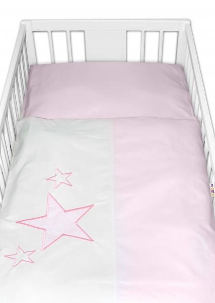 Baby Nellys Obliečky do postieľky Love Dreams - ružové