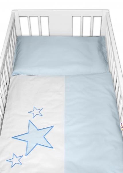 Baby Nellys Obliečky do postieľky Love Dreams - modré