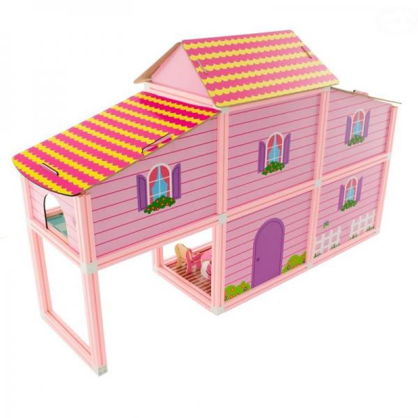 Euro Baby Ružový domček pre bábiky