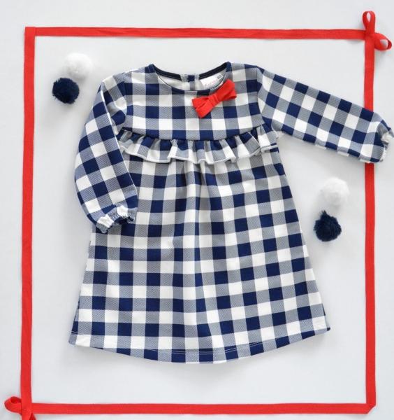 K-Baby Dojčenské šatôčky Karko - granát/biela-62 (2-3m)