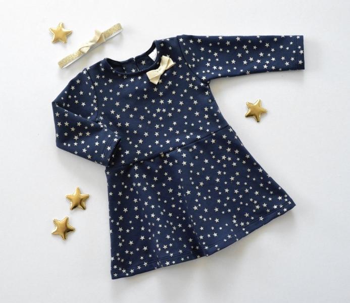 K-Baby Dojčenské šatôčky Hviezdička - granát/zlatá, veľ. 80