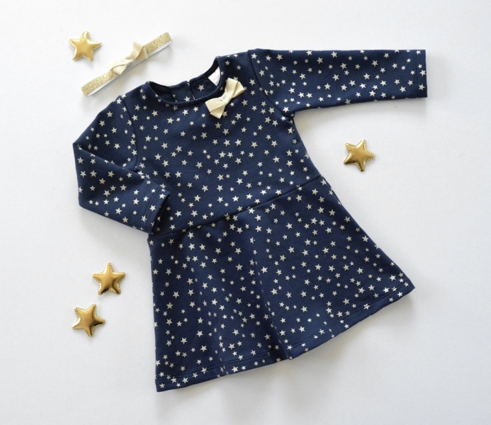 K-Baby Dojčenské šatôčky Hviezdička - granát/zlatá, veľ. 86