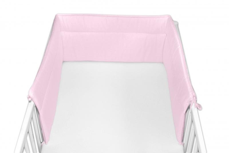 Baby Nellys Mantinel do postieľky 30x180 cm - sv. ružový