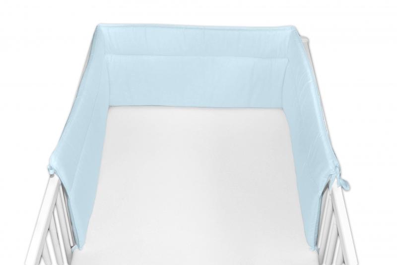Baby Nellys Mantinel do postieľky 30x180 cm - sv. modrý