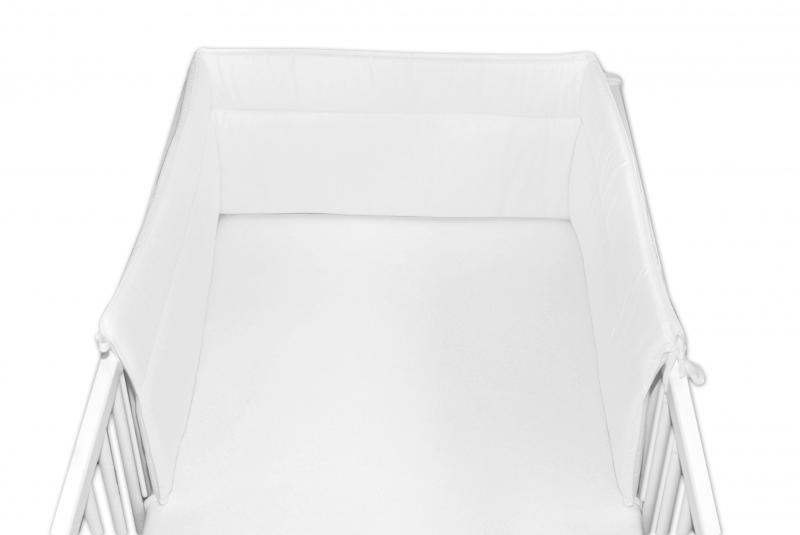 Baby Nellys Mantinel do postieľky 30x180 cm - biely