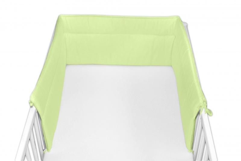 Baby Nellys Mantinel do postieľky 30x180 cm - zelený