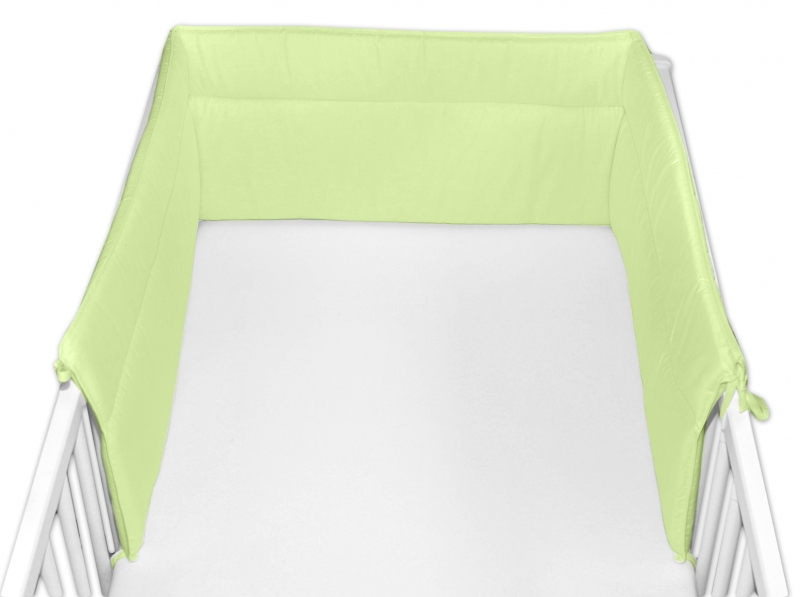 Baby Nellys Mantinel do postieľky 30x360 cm - zelený