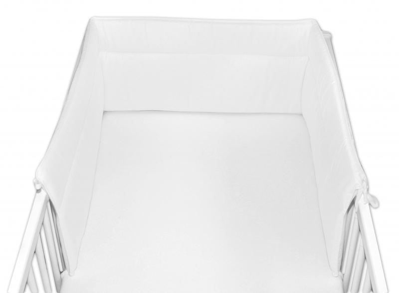 Baby Nellys Mantinel do postieľky 30x360 cm - biely