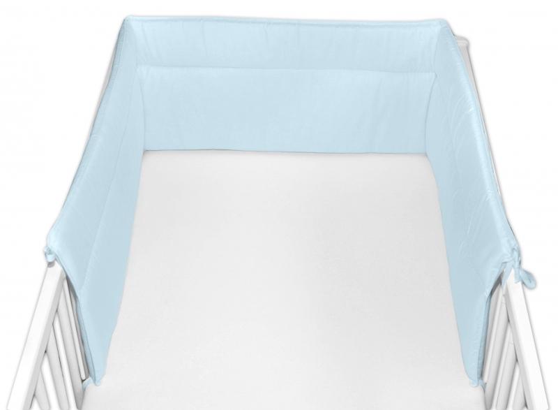 Baby Nellys Mantinel do postieľky 30x360 cm - sv. modrý