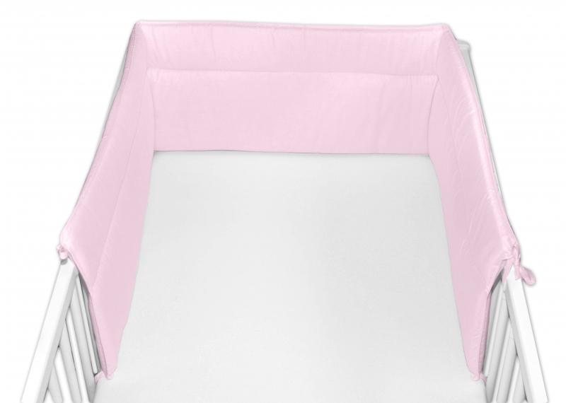 Baby Nellys Mantinel do postieľky 30x360 cm - sv. ružový