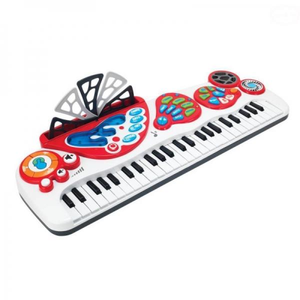 Detský keyboard s blikajúcou klávesnicou
