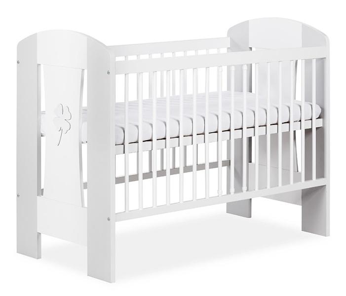 Klups Postieľka Nati Štvorlístok - biela / šedá, 120x60 cm
