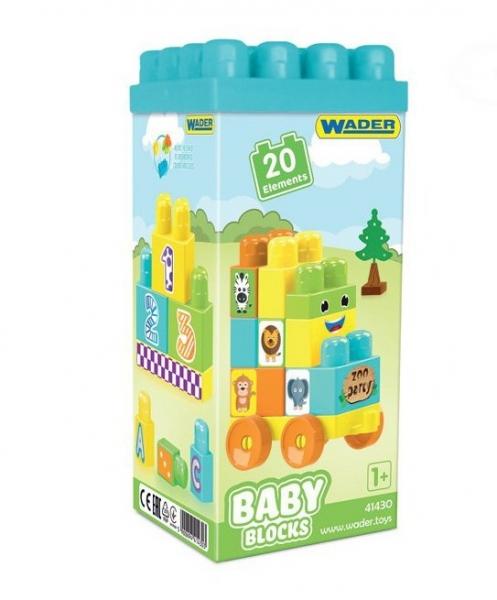 Kocky baby blocks  Wader, 20 dielkov