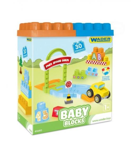 Kocky baby blocks  Wader, 30 dielkov