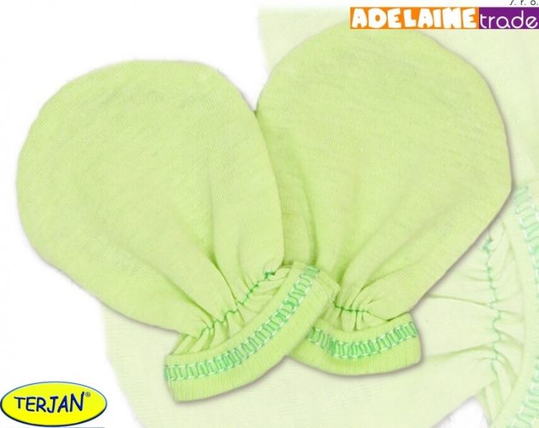 Rukavičky bavlna Terjan - zelené, veľ. 2